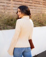 Marsha Ribbed Turtleneck Knit Sweater - FINAL SALE view 2