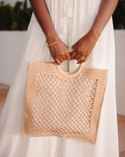 Bermuda Crochet Tote Bag - Natural view 1