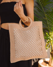 Bermuda Crochet Tote Bag - Natural view 4