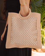 Bermuda Crochet Tote Bag - Natural view 2