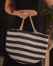 Desert Lines Cotton + Jute Woven Tote Bag view 3
