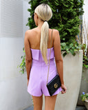 Lovely Lavender Strapless Romper