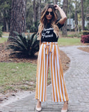 Thousand Suns Pocketed Striped Tie Pants