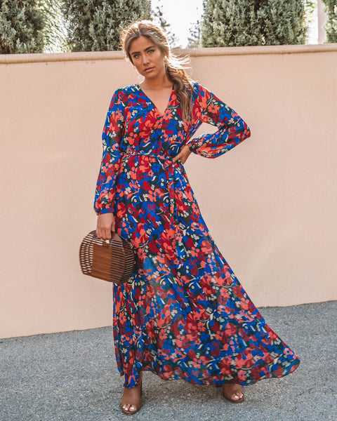 Déja Vu Floral Maxi Dress