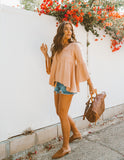 Georgia Peach Boho Blouse