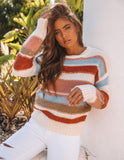 Florence Striped Knit Sweater