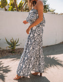 Greco Roman Cotton Embroidered Maxi Skirt - FINAL SALE