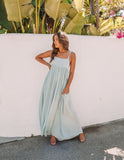 Elysium Adjustable Pocketed Maxi Dress - Waterlily - FINAL SALE