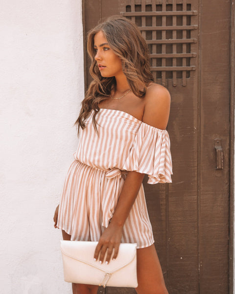 Anywhere With You Striped Romper