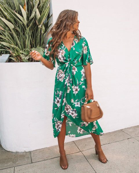 Glenda Green Twist Dress