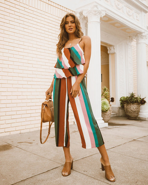 One Fine Day Striped Jumpsuit - FINAL SALE