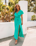 Lost In The Moment Maxi Dress - Jade - FINAL SALE