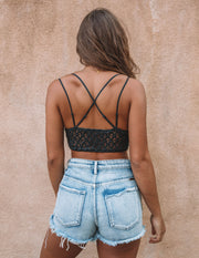 Crush On You Lace Bralette - Charcoal