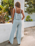 Angel Dust Pocketed Pants - Waterlily