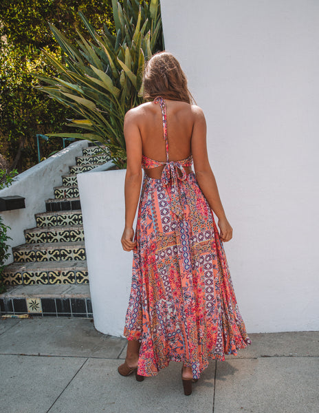 Catch The Breeze Cut Out Maxi Dress - FINAL SALE