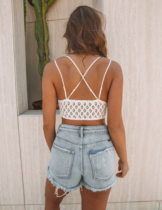 Crush On You Lace Bralette - Ivory