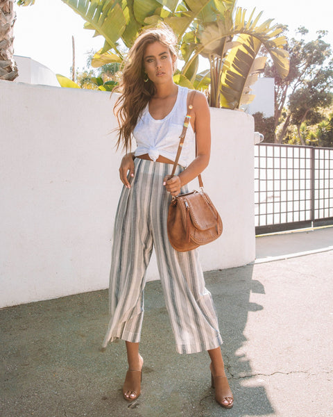 Highway Striped Cotton Pants - FINAL SALE
