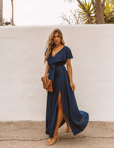 Lost In The Moment Maxi Dress - Navy