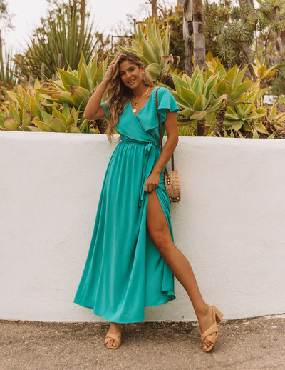 Lost In The Moment Maxi Dress - New Mint