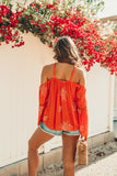 Tangerine Dreams Embroidered Top