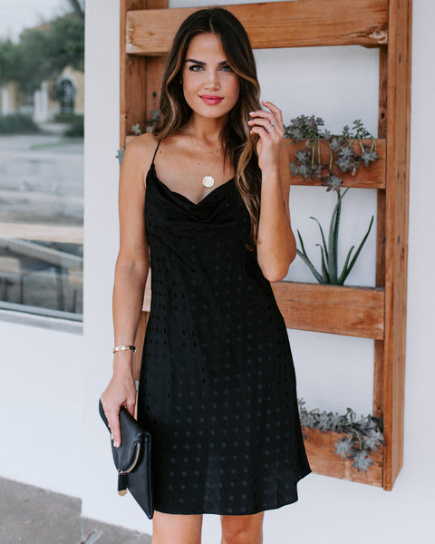 Blaire Cowl Neck Mini Slip Dress  - FINAL SALE