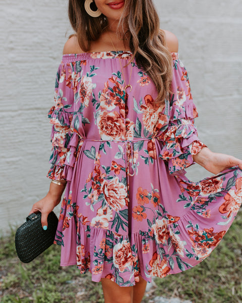 Violetta Floral Off The Shoulder Dress - FINAL SALE