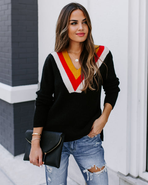 To The Fullest V-Neck Sweater - FINAL SALE