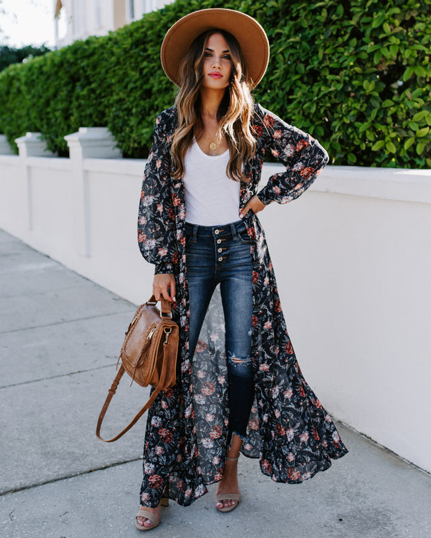 All Is Well Floral Duster Kimono