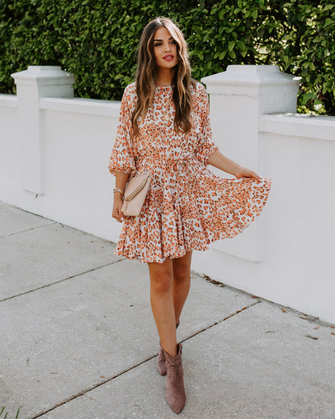 Sophie Leopard Rope Tie Dress