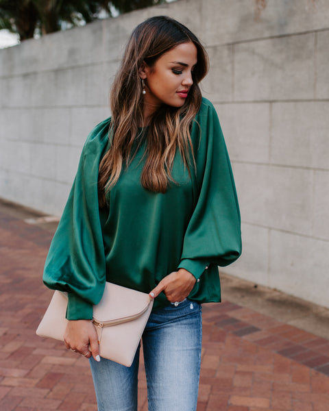 Kelly Satin Statement Blouse
