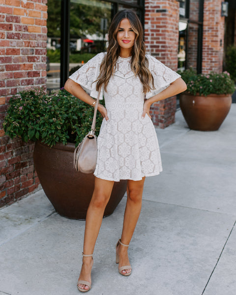 Mercedes Backless Lace Dress