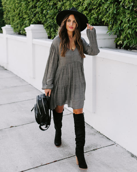Vermont Plaid Babydoll Dress