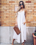 Hidden Valley Pocketed Jumpsuit - Natural - FINAL SALE