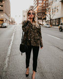 Front Lines Cotton Camo Lace Up Jacket