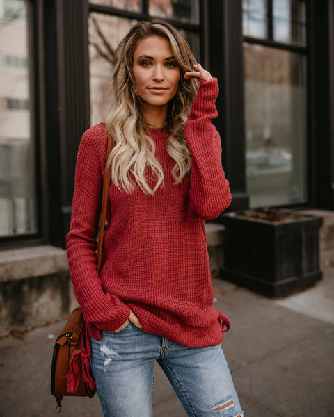 Good Tidings Sweater - Rose