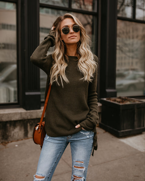 Good Tidings Sweater - Olive