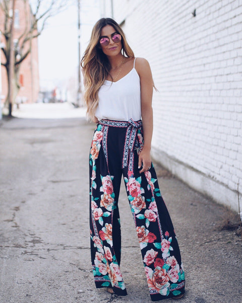 California Dreamin' Palazzo Pants - Black