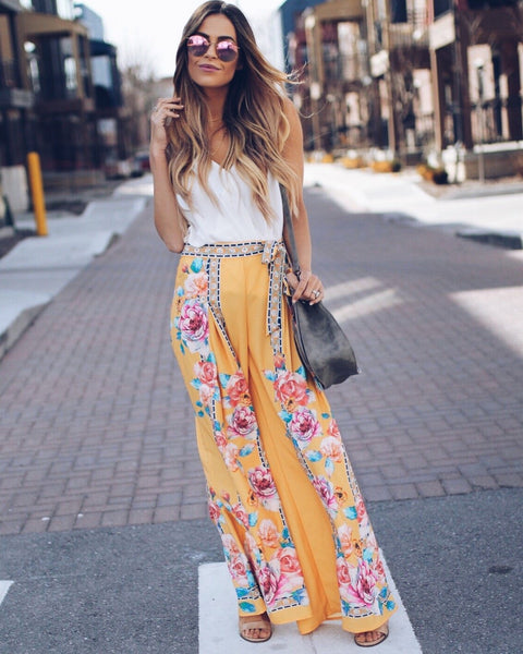 California Dreamin' Palazzo Pants - Yellow