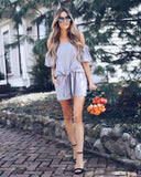 C'est Chic Cotton Pocketed Shorts - Grey - FINAL SALE