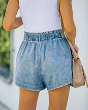 Brayson High Rise Elastic Denim Shorts view 2