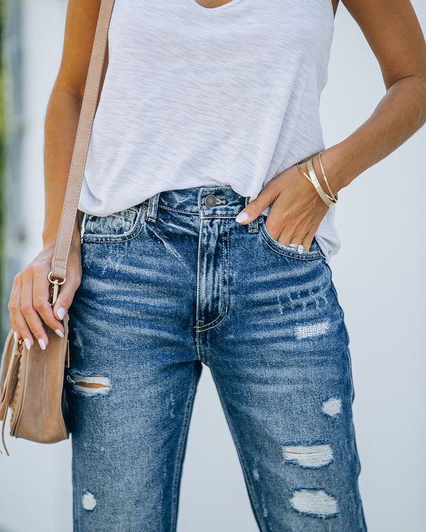 Larisa High Rise Distressed Mom Jeans view 11