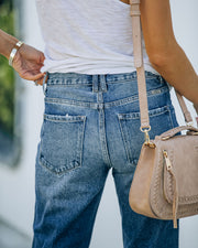 Larisa High Rise Distressed Mom Jeans view 12