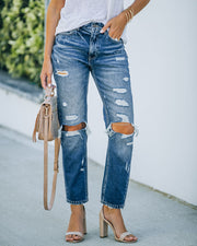 Larisa High Rise Distressed Mom Jeans view 8