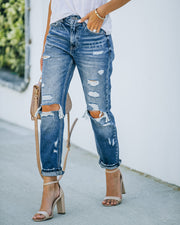 Larisa High Rise Distressed Mom Jeans view 5