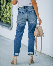 Larisa High Rise Distressed Mom Jeans view 2