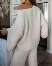 Sleepover Soft Knit Sweater Top - FINAL SALE