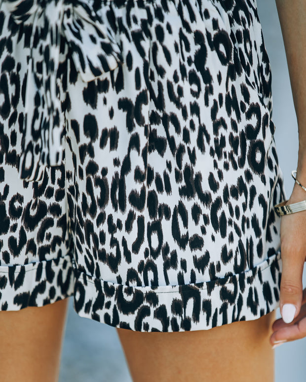 Mile A Minute High Rise Pocketed Leopard Shorts view 3