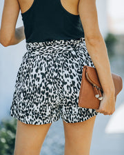 Mile A Minute High Rise Pocketed Leopard Shorts view 2