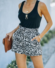 Mile A Minute High Rise Pocketed Leopard Shorts view 8