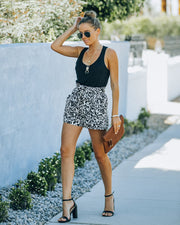 Mile A Minute High Rise Pocketed Leopard Shorts view 4